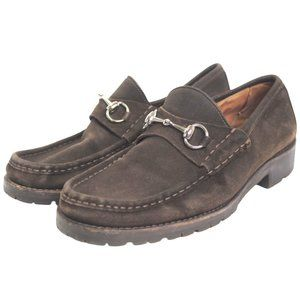 Vintage Gucci Horsebit Leather Loafers 27512 Brown